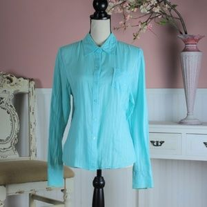 Style & Co Turquoise Blouse Size 12